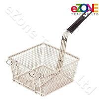 Commercial Catering Frying Basket Heavy Duty 200x200x100 mm