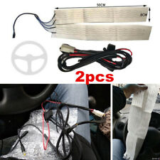 Car Steering Wheel Accessories Carbon Fiber Heated Pad LED Switch Kit Universal