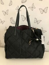Black quilted travel bag by Accessorize, nylon. brand new
