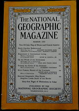 National Geographic Magazine March 1953 S CAROLINA - DODECANESE - ICE CAVES - ++