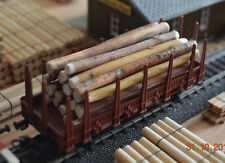Ladegut Holz, Stämme Naturholz ca. 78 mm lang Ø 4,00 - 7,00 mm, 20 Stück (H0-N)
