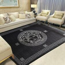 Versace Medusa Carpet 150x200 Dark Grey Luxury