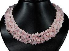Gorgeous Rose quartz Splitter chain multiple-row