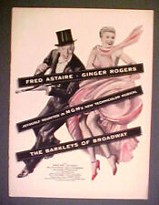 1949 Fred Astaire~Ginger Rogers Barkleys of Broadway Vintage Movie Musical Ad