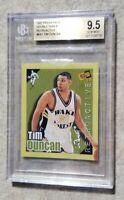1997 NBA ROOKIE TIM DUNCAN Press Pass Double Threat Retroactive  RC BGS 9.5💎🏀