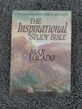 THE INSPIRATIONAL STUDY BIBLE MAX LUCADO HARD COVER, NEW, FAST FEDEX2DAY SHIP