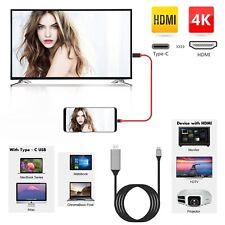 Tipo C a HDMI Cable 4K compatible con Samsung Galaxy 8/S8/S8 Plus, Note