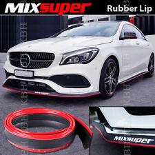 """MIXSUPER Rubber Bumper Lip Splitter Chin Spoiler EZ RED for Nissan 2"""" x 100"""""""