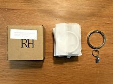 Restoration Hardware NIB Polished Nickel Montaigne Solid Brass Curtain Clip Ring