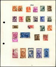 ITALIA pagina di album di francobolli #V4526