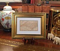 Framed Original 1889 Antique Map NORTH CAROLINA Wilmington Greensboro Charlotte