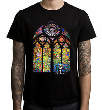 BANKSY STAINED GLASS T-SHIRT - Church Window Graffiti - Sizes S to 3XL