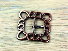 Simplicity Square Filigree Design Metal Buckle Fastener  Copper - each (SC-88...