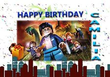 LEGO HARRY POTTER    - Personalised Birthday Greeting Card A5 Friend / son / any