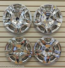 "15"" CHROME Hubcaps Wheelcovers for 2010-2012 Nissan VERSA Set of 4 NEW"