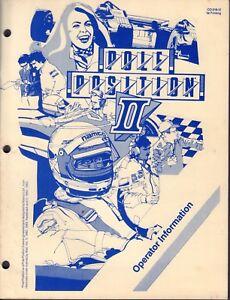 Pole Position 2 1982 1983 Operator Information Arcade Manual 020218DBE