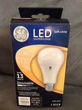 GE SOFT WHITE LED 100 WATT REPLACEMENT LIGHT BULB DIMMABLE LED A21 - NEW IN BOX
