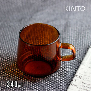 KINTO Mug Cup SEPIA Amber 21741 340ml Heat-resistant glass NEW F/S From Japan