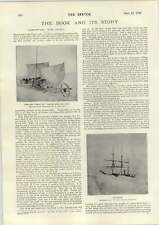 1898 Northward With Robert Peary Icebound Phil May Full Page Cartoon