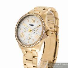 FOSSIL Retro Traveler Uhr Cecile AM4482 Damen Armbanduhr Multifunktion IP gold