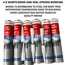 6 x wurth bond and seal sikaflex camper conversion home construction black