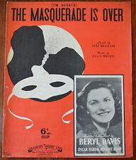 TEMO () Il ballo in maschera è terminato da erba magidson & Allie wrubel – Pub.1938