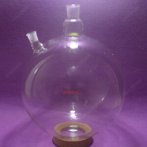 20000ml,20L,2-neck,Round Bottom Glass Flask,Customized ground joints