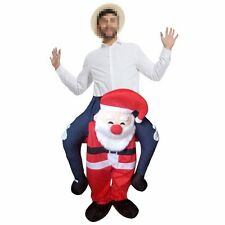 Santa Claus Novelty Carry Me Fancy Dress Up Costume Ride On Suits Xmas Gift