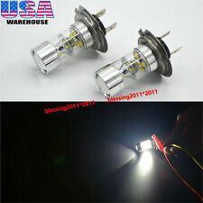 2X H7 High Power Cree LED Projector Fog Driving DRL Lamps Light Bulbs White 50W