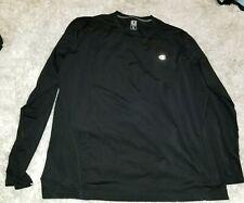 Champion Men's Running Long Sleeves Shirt Athletic Black Size Xl