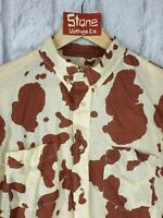 Levi's Vintage Clothing LVC 1960'S Brown White Cow Print Shirt L/S £170 New M