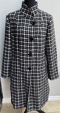 Ladies Coat Size 16 Black White Grey Debenhams Collection <MM1286