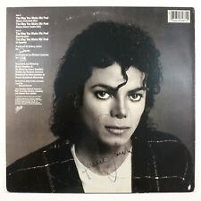 MICHAEL JACKSON SIGNED THE WAY YOU MAKE ME FEEL ORIGINAL ALBUM VINYL LP COA