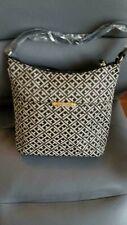 Tommy Hilfiger Authentic Brown Signature Hobo Bag Handbag Purse