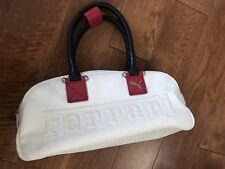 White Puma Ferrari leather hand bag purse
