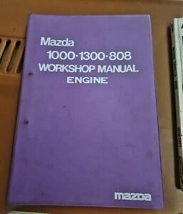 MAZDA 1000 , 1300 , 808 workshop manual