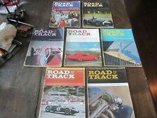 Road & Track Magazine Vintage Car Automobile Lot of 7 1960 Year