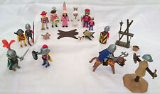 Vintage Playmobil Knights Training Field, Royal Court, and Knight - Grouped lot.