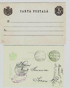 H142 Romania stationery ps postalcards 1800s- carta postala Sorau