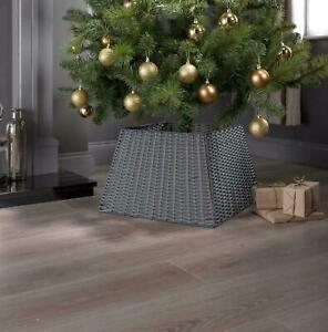 Christmas Tree Decoration Large Wicker Rattan Natural Tree Base Skirt Xmas Grey
