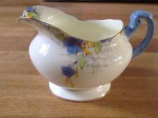 Royal Paragon Art Deco Milk Jug Pattern 9747 Blue & Yellow Floral Sprays.