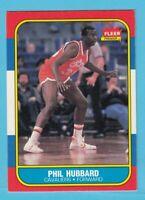 1986-87 Fleer Basketball Phil Hubbard # 48 Cavaliers