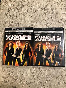 Charlie's Angels (4K UHD Blu-ray/Blu-ray, HD) NEW w/slipcover