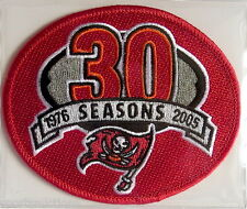 TAMPA BAY BUCCANEERS ~ 30th ANNIVERSARY NFL PATCH STAT CARD Willabee & Ward 2005