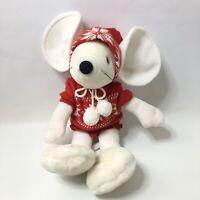 """Vintage Commonwealth Musical Christmas Mouse Stuffed Plush Animal 16"""""""