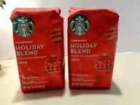 Starbucks Holiday Blend 2019 Arabica Ground Coffee 2 Bags 10 oz. each 3/25/2020
