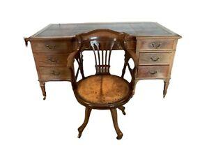 Bureau et son fauteuil tournant Angleterre XIX siècle