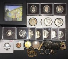 Junk Drawer: Assorted Coins, Jewelry, Gems, Silver, Gold, & Berlin Wall Fragment