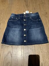 NWT Justice Jeans Denim Front Buttons Skort Size 12 Fall Winter Fun Holidays
