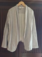 Anthropologie Postmark Gray Open Front Knit Cardigan Sweater Jacket Sz Medium